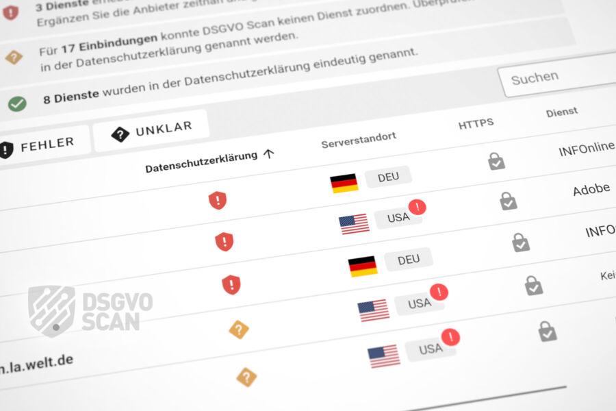 DSGVO Scan App Beispiel